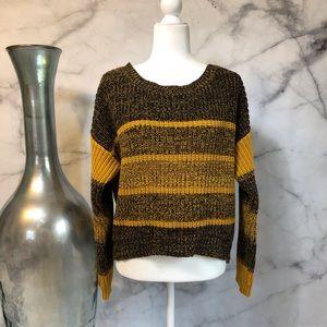 BDG Mustard Yellow & Black Marled Sweater Sz. L